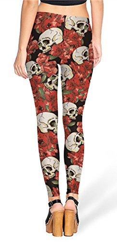 Alive Damen Leggings One size Rose Skeleton