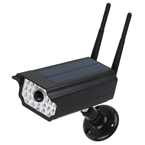 Lixada Luz LED Solar de Cámara Falsa de Seguridad Luces de Jardín al Aire Libre con Energía Solar Lámpara de Sensor...