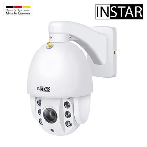 INSTAR IN-9010 Full HD Weiss - wetterfeste Überwachungskamera - LAN - WLAN IP Kamera - Aussen - Außenkamera - PTZ - 4X Zoom - steuerbar - Nachtsicht - ONVIF - Alarm Eingang - Audio - RTSP - Mikrofon