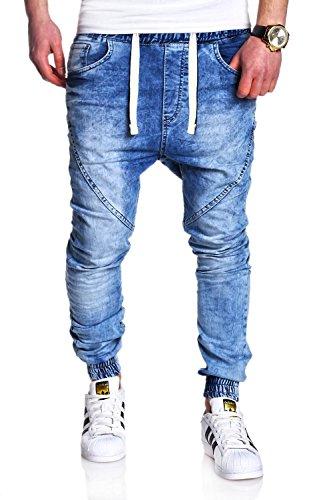 MT Styles Sportivi-Jeans Pantaloni Uomo RJ-2089 Blau [light blue, W32/L32]
