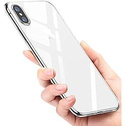 "Funda iPhone X, Mture iPhone X Carcasa Ultra Fina Caso Anti-Arañazos Silicona TPU Protectora Funda Case Para Apple iPhone X 5.8""(2017) - Transparent"