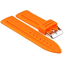 StrapsCo Orange Silicone Divers Watch Band size 30mm