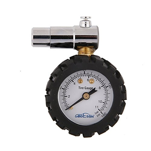 Godeson Smart Bike Tire Pressure Gauge 0-160psi,Dual Scale with 0-11bar, Professional for Presta Valves of Bicycle Tire by Godeson -