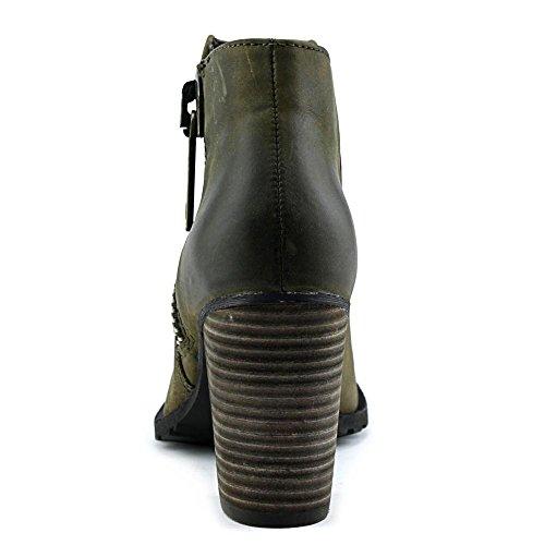Aldo Cristy Rund Leder Mode-Stiefeletten Khaki