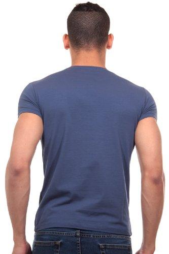 R-NEAL T-Shirt Rundhals slim fit Indigo