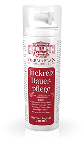Lindern Juckreiz (Dermaplan Juckreiz Dauerpflege | trockene Haut & akuten Juckreiz effektiv lindern | Juckreiz-Creme bei Ekzemen | Hautreizungen | Schuppenflechte | Neurodermitis | feuchtigkeitsspendend | 100% Vegan | Made in Germany, 150ml)