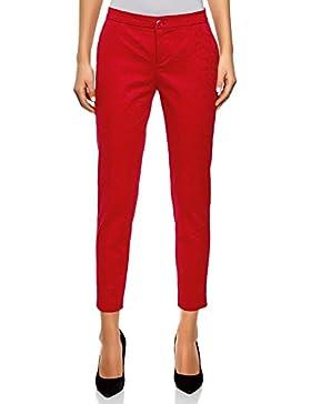 oodji Collection Mujer Pantalones Ajustados de Jacquard