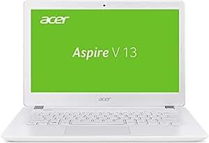 Acer Aspire V 13 (V3-372-33XV) 33,8 cm (13,3 Zoll Full HD IPS) Notebook (Intel Core i3-6157U, 4GB RAM, 128GB SSD, Intel Iris Graphics 550, Win 10 Home) weiß