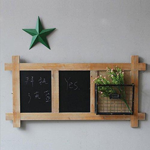 Shelves DUO Bücherregal Tafel mit Regal im Freien Bürgersteigs-Tafel-Zeichen/starkes Sandwich-Brett Hängeregal, (Farbe : B) (Große Metall-schlüssel-wand-dekor)