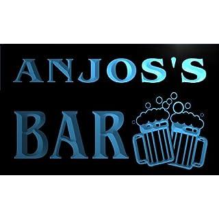 w098778-b ANJOS Name Home Bar Pub Beer Mugs Cheers Neon Light Sign