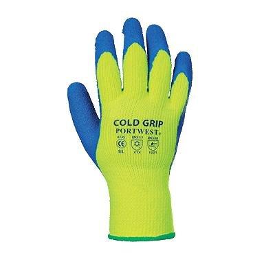Portwest a145y4rm Cold Grip Handschuh, Regular, Größe: Medium, Gelb/Blau (Dallas-jacke)