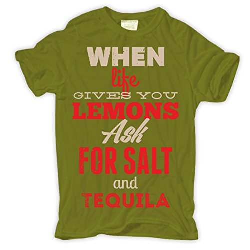 Männer und Herren T-Shirt Lemons & Tequila Moosgrün