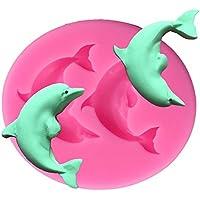 DaoRier Mini Delphin Modelle Silikonformen Backen Kuchen Kuchenform Cupcake 3D Kuchen Dekorieren Silikon Fondant Schimmel