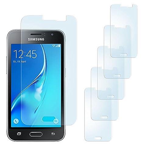 5x Samsung Galaxy J1 (2016) Schutzfolie Matt Display Schutz [Anti-Reflex] Screen protector Fingerprint Handy-Folie matte Displayschutz-Folie für Samsung Galaxy J1 2016