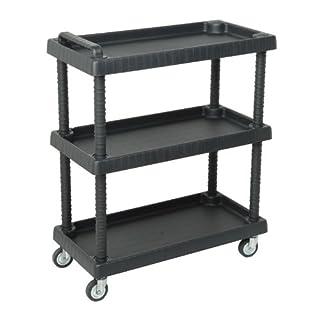 Art Plast D + 75373 Multimedia Trolley Black Multimedia Cart/Stand - Multimedia Carts & Stands (920mm 750mm 375mm Plastic, Black, 755mm)