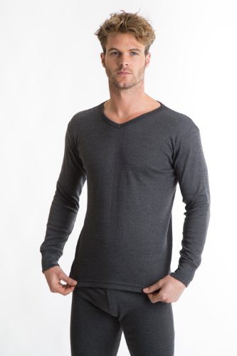 RP Collections® Mens Thermal Underwear V-Neck Long Sleeve T-Shirt
