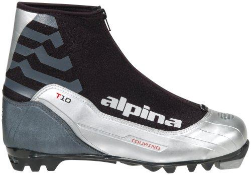 alpina T10Nordic Langlauf Ski Stiefel für NNN Bindungen, silber (Nnn Ski-bindungen)