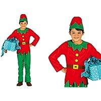 Guirma Costume da Elfo Bambino Bambina Folletto di Babbo Natale a70d983ef257