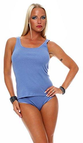 Speidel Achselhemd, Top 100 % gekämmte Baumwolle, Unterhemd Größen von 38 - 48 Hellblau