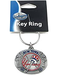 Yankees de New York ovale en étain porte-clés