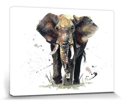 1art1® Elefantes - Thunder, Sarah Stokes Cuadro, Lienzo Montado sobre Bastidor (40...