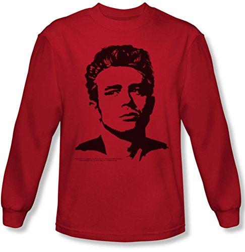 Dean - Herren Langarm-Shirt in rot Red