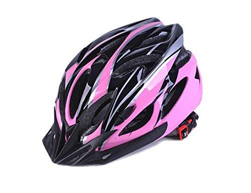 Meili 11x colori di casco, adulti uomini e donne sport casco per bici da strada e mountain bike, casco leggero con visiera rimovibile e regolabile antiscivolo Thrasher, Pink/Black