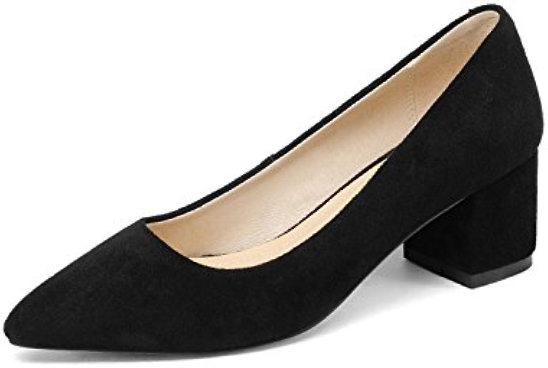 A la luz de la primavera satinado código tamaño plano casual zapatos de mujer, Negro,44