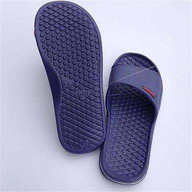 LQXZM Unisex pantofole & amp; flip-flops primavera cadono PVC outdoor casual tacco piatto altri blu rosso altri Dark Blue