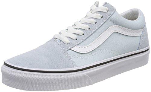 Vans Damen Old Skool Sneaker, Blau (Baby Blue/True White Q6k), 38 EU (Blue Suede Vans)