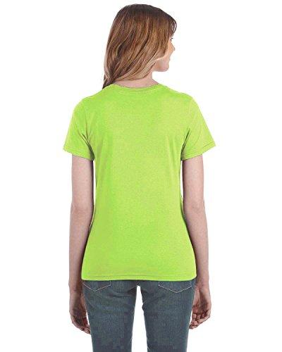 Anvil Damen T-Shirt, leicht tailliert Neon Green