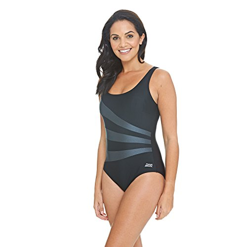 8530e332241 Zoggs Women s Sandon Scoopback Swimming Costume with Fixed Foam Cups ...