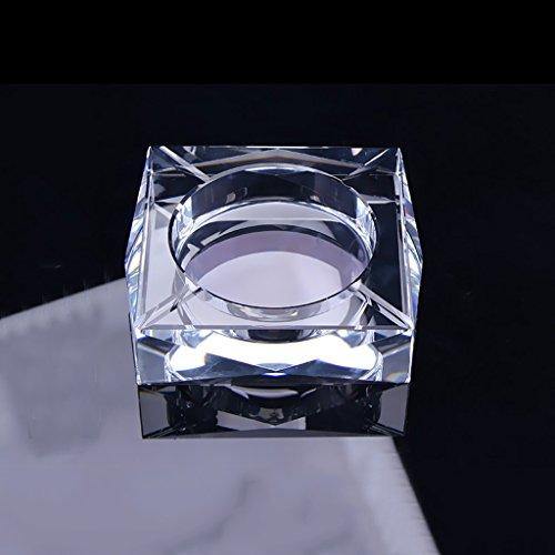 HUACANG Transparente Crystal Aschenbecher Bar Office Wohnzimmer Platz Aschenbecher, Moderne Raucher Home Decor Aschenbecher (Farbe : B) (Crystal Zigarette Aschenbecher)