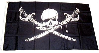 mit Säbel und Dolch 150 x 250 cm (Piraten Wimpel Flaggen)