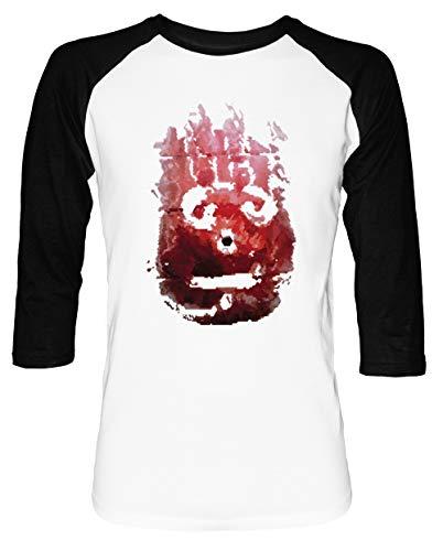 Wilson Herren Damen Unisex Baseball T-Shirt Weiß Schwarz 2/3 Ärmel Women's Men's Unisex Größe M Men's White T-Shirt Medium Size M
