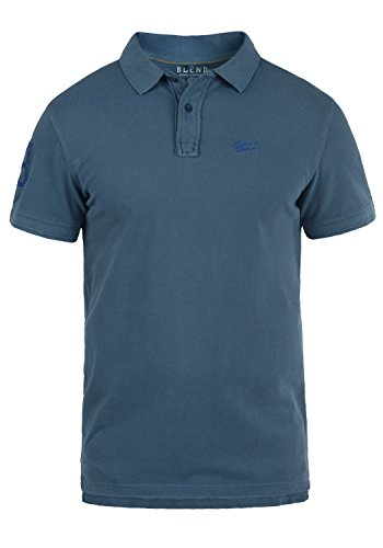 Blend Dave Herren Poloshirt Polohemd T-Shirt Shirt Mit Polokragen Aus 100% Baumwolle, Größe:XXL, Farbe:Ensign Blue (70260)