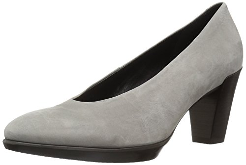 Ecco Damen Shape 55 Plateau Stack Pumps, Grau (Warm Grey), 41 EU (Stack Heel)