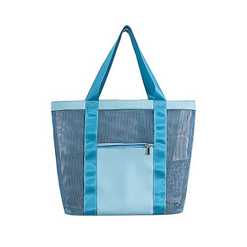 Umhängetasche, Loxmy Travel Strandtasche Aufbewahrungstasche Badetasche Gitter Reisetasche Reise Tragbare Kosmetische Make-up Waschende Maschentaschen Speicher Handtasche