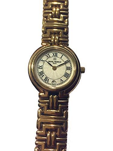 Michel Herbelin 16891-BP08 - Orologio da donna placcato oro e vetro zaffiro