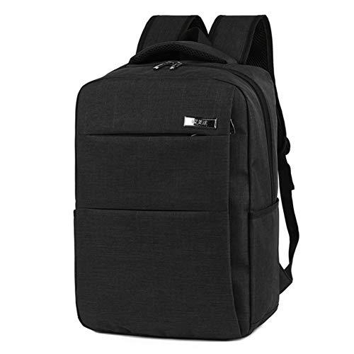 LHJ Wasserdichte 15,6-Zoll-Laptop-Schultertasche Großer Business-Rucksack Für Den Außenbereich,Black,15.6inches