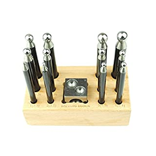 Proops 12 Piece Small Mini Quality Dapping Doming Punch and Steel Doming Block 1