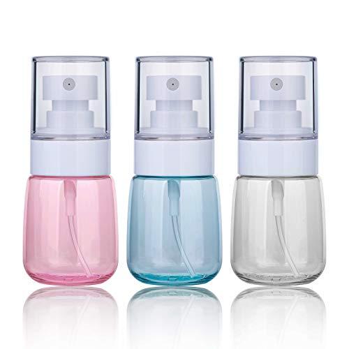 Bottiglie spray vuoto trasparente flacone spray plastica fine nebbia bottiglia set da viaggio bottiglie di acqua di trucco spruzzatore 30ml per prodotti da toilette cura della pelle pulizia 3 pezzi