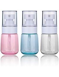 Bote Spray Botella de Aerosol Vacío Plástico Transparente Niebla Fina Atomizador de Viaje Recargable Conjunto de Botellas Maquillaje Vacio de Agua Claro Contenedor (3 × 30 ML)