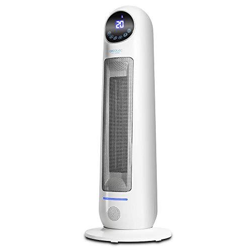 Cecotec Calefactor Cerámico Ready Warm 10100 Smart Ceramic. Pantalla LED, Oscilante, 3 Modos, Mando...