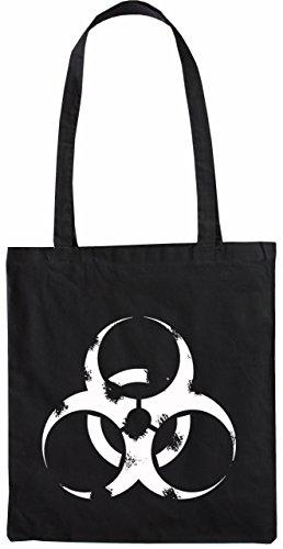 Mister Merchandise Tasche Biohazard Schaukel Stofftasche , Farbe: Schwarz Schwarz