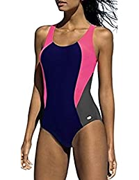 LORIN Badeanzug fur Damen Endurance einteiliger Schwimmanzug Vorgeformte BH-Cups
