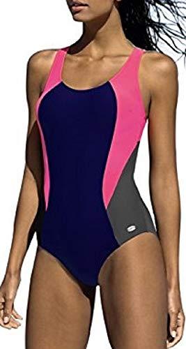 LORIN Badeanzug fur Damen Endurance einteiliger Schwimmanzug Vorgeformte BH-Cups -