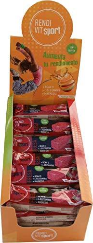 24 Barritas Energéticas Pulpa de Fruta - Fresa sin frutos secos Rendi