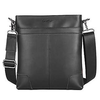 415XqaLayxL. SS324  - Leathario Bolso Bandolera Hombre de Cuero Vintage Pequeño Tipo Casual Bolsa Hombro Piel Escolar Viaje para iPad 7.9 Pulgadas