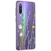 Oihxse Mandala Flores Encaje Patrón Serie Case Compatible con Xiaomi Redmi 5 Funda TPU Silicona Suave Protector Ultra Slim Anti-Rasguño Transparente Carcasa (A9)